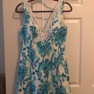 Lilly Brynn Fit & Flare V-Neck Dress